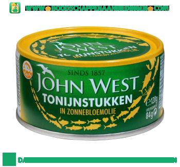 John West Tonijnstuk in zonnebloem olie aanbieding