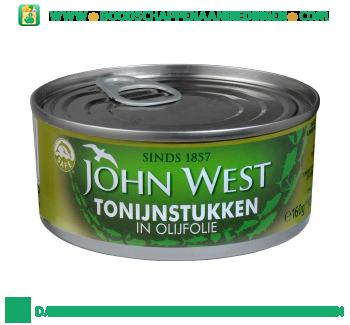 John West Tonijnstukken in olijfolie aanbieding