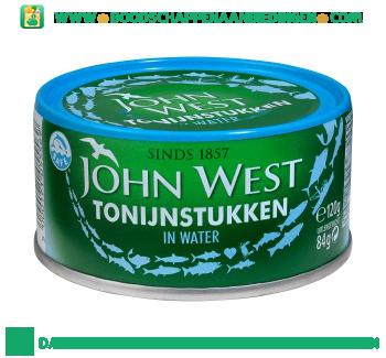 John West Tonijnstukken in water aanbieding