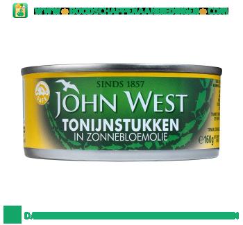 John West Tonijnstukken in zonnebloemolie aanbieding
