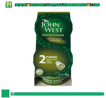 John West Tonijnstukken met een vleugje olijfolie aanbieding