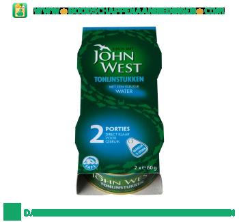 John West Tonijnstukken met een vleugje water aanbieding