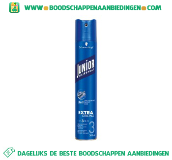 Junior Hairspray extra strong aanbieding