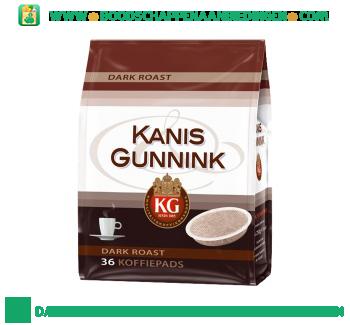 Kanis & Gunnink Dark roast koffiepads aanbieding
