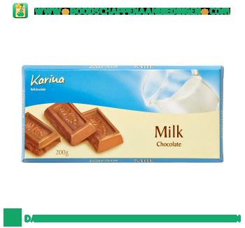 Karina Chocoladereep melk aanbieding
