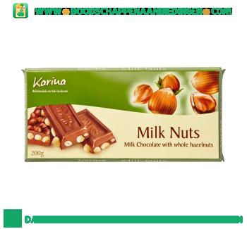 Karina Chocoladereep melk hazelnoot aanbieding
