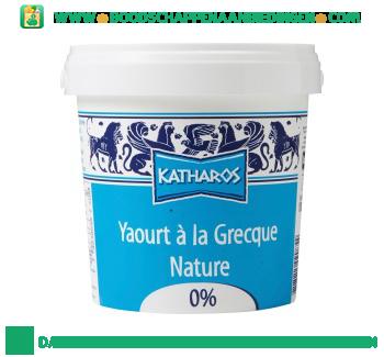 Katharos Yoghurt griekse stijl 0% vet aanbieding