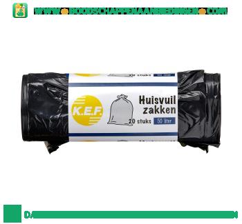 K.e.f. Huisvuilzakken à 50 liter aanbieding