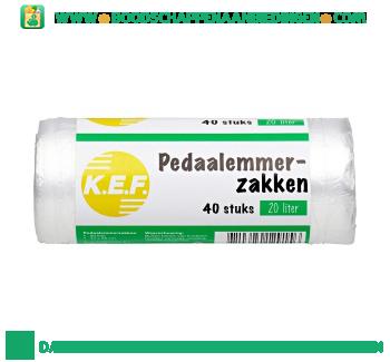 K.e.f. Pedaalemmerzakkenb à 20 liter aanbieding