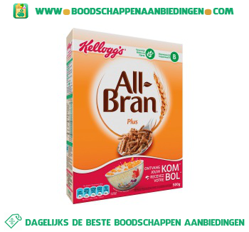 Kellogg's All-Bran plus aanbieding