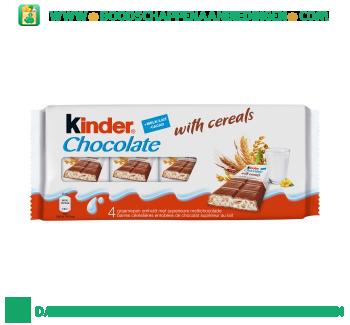 Kinder Chocolade met cereals aanbieding