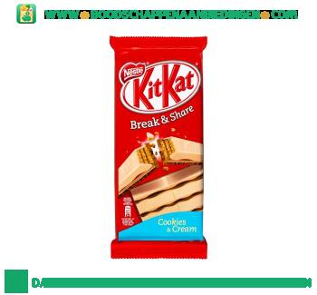 KitKat Cookies & cream aanbieding