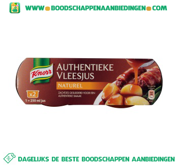 Knorr Authentieke vleesjus naturel aanbieding