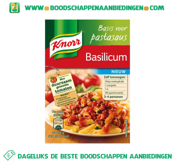 Knorr Basis voor pastasaus basilicum aanbieding
