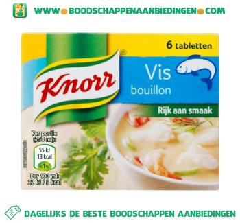 Knorr Bouillon Vis aanbieding