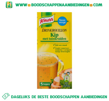 Knorr Drinkboullion kip & tuinkruiden aanbieding