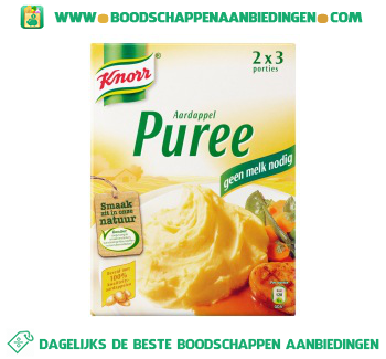 Knorr Mix duo aardappelpurree aanbieding