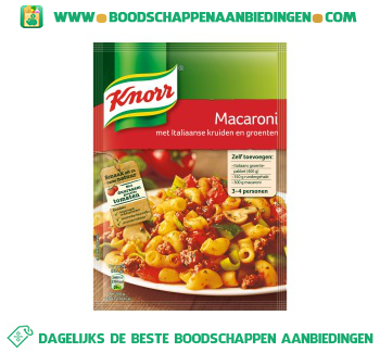Knorr Mix macaroni aanbieding