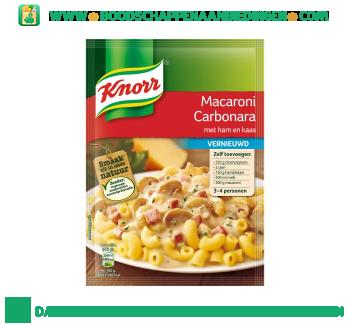 Knorr Mix macaroni carbonara aanbieding