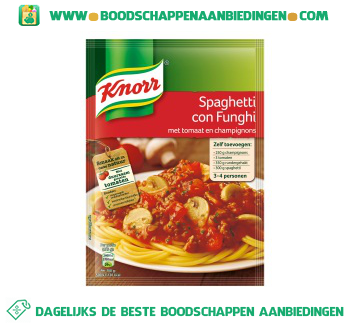 Knorr Mix spaghetti con funghi aanbieding