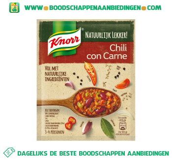 Knorr Mix voor chili con carne aanbieding