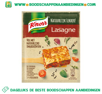 Knorr Mix voor lasagne aanbieding