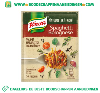 Mix voor spaghetti bolognese aanbieding