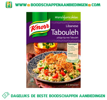 Knorr Wereldgerechten Libanese Tabouleh aanbieding