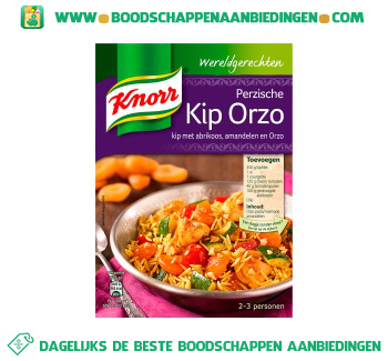 Knorr Wereldgerechten Perzische kip orzo aanbieding