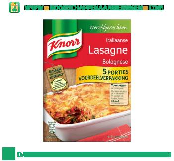Knorr Wereldgerechten lasagne bolognese aanbieding