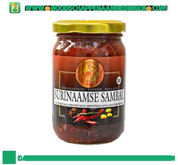 Koningsvogel Surinaamse sambal aanbieding