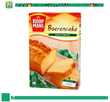 Koopmans Boerencake mix aanbieding