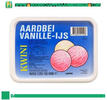 Kwini Aardbei vanille-ijs aanbieding