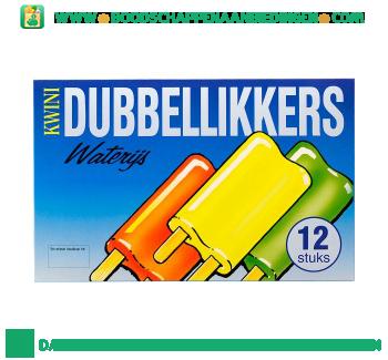 Kwini Dubbellikkers waterijs aanbieding