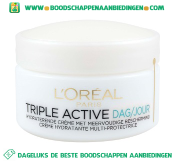 L'Oréal Paris Triple active dag aanbieding