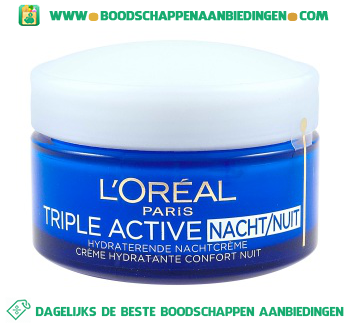 L'Oréal Paris Triple active nacht aanbieding