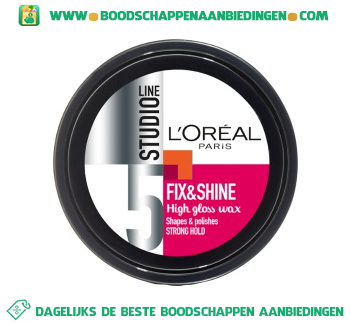 L'Oréal Studio Line Fix & shine wax aanbieding