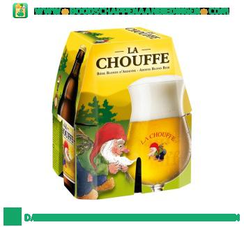 La Chouffe Blond bier pak 4 flesjes aanbieding