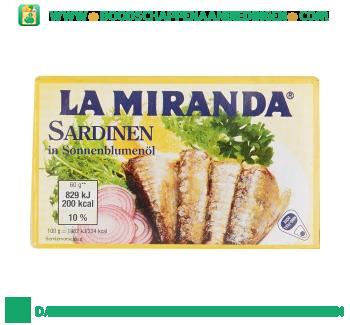 La Miranda Sardines in zonnebloemolie aanbieding