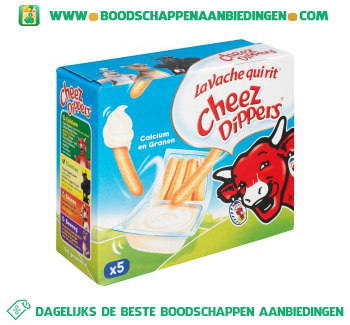 La Vache qui rit Cheez dippers naturel aanbieding