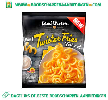 Lamb Weston Twister fries naturel aanbieding