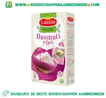 Lassie Extra basmati rijst met extra vezels aanbieding