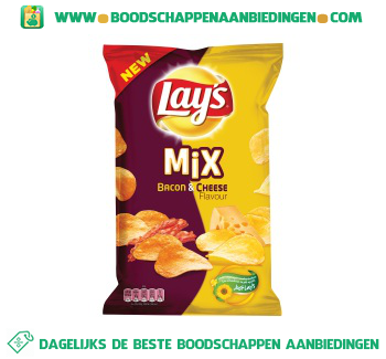 Lay's Mix bacon & cheese aanbieding