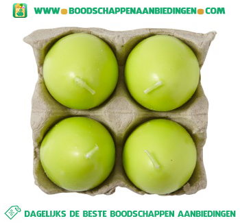 Figuurkaars ei eiertray lime groen aanbieding