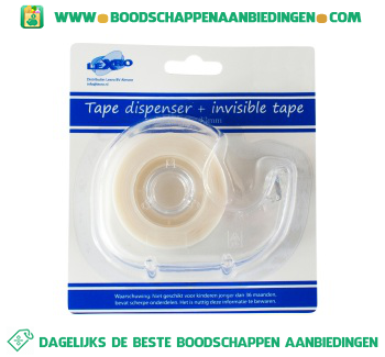 Lexro Tape dispenser met tape aanbieding
