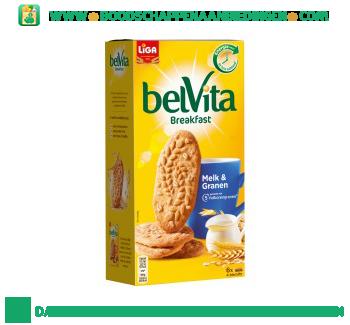 Liga Belvita melk & granen aanbieding