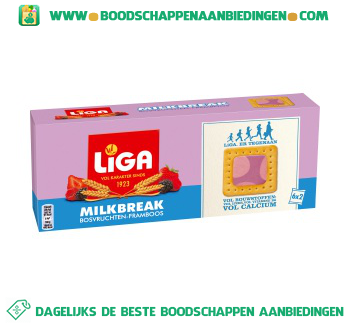 Liga Milkbreak bosvruchten framboos aanbieding