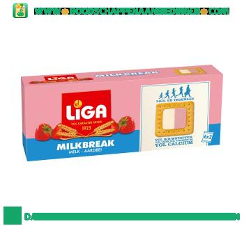 Liga Milkbreak duo melk aardbei aanbieding