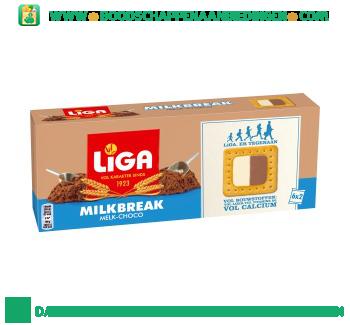 Liga Milkbreak melk chocolade aanbieding