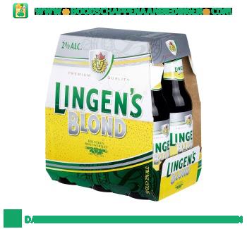 Lingen's Blond pak 6 flesjes aanbieding